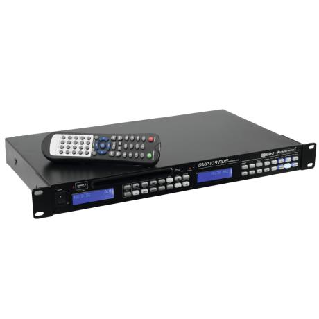 OMNITRONIC USB/SD CARD PLAYER RACK MOUNTABLE WITH FM RDS TUNE
