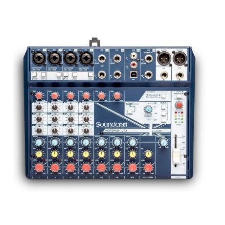 SOUNDCRAFT SMALL MIXER 12 MONO MIC/LINE INPUTS