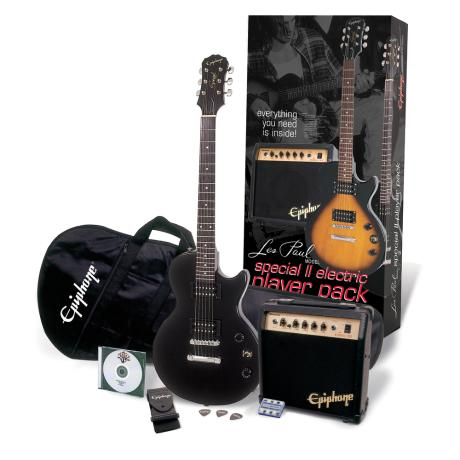 EPIPHONE LES PAUL SPECIAL II PLAYER PACK EBONY
