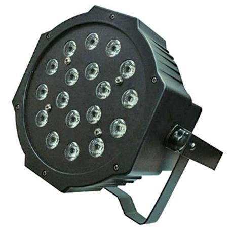 STARAY LED ΠΡΟΒΟΛΕΑΣ RGB 18X1W BLACK IP 20