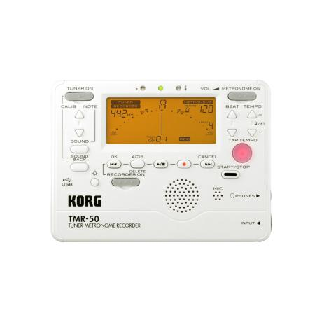 KORG DIGITAL TUNER METRONOME RECORDER WHITE