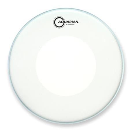 AQUARIAN HI-VELOCITY 14-INCH SNARE DRUM HEAD WITH DOT