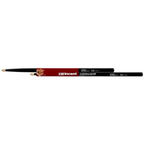 WINCENT HICKORY DRUMSTICKS NATURAL BLACK