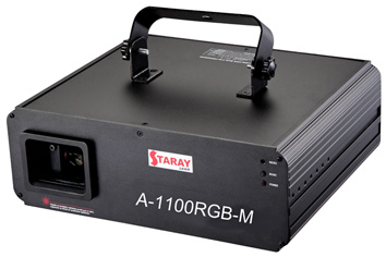 STARAY LASER 1100mW RGB ( GREEN 100mW, RED 300mW, BLUE 60