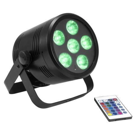 EUROLITE BATTERY-POWERED LED SPOTLIGHT WITH RGBW COLOR MIXING, INCL. IR REMOTE CONTROL