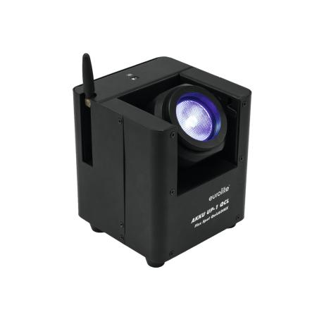 EUROLITE LED UPLIGHT WITH 15 W 4IN1 LED, TILTABLE HEAD AND QUICKDMX TRANSCEIVER