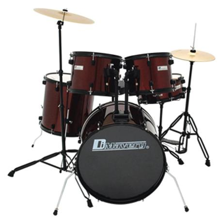 DIMAVERY DS-200 DRUM SET WINE RED