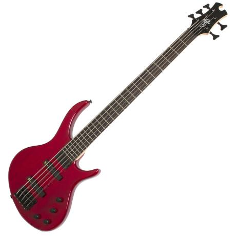 EPIPHONE TOBY DELUXE-V BASS TRANS RED