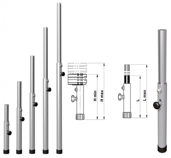 EUROTRUSS ROUND LEG TELESCOPIC   90cm ~140cm