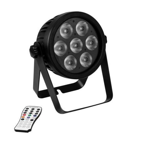 EUROLITE LED PAR 7X9W ΦΩΤΙΣΤΙΚΟ SPOT RGBA/CW/WW+UV 7/1