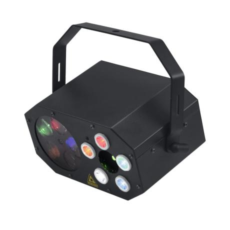EUROLITE SMALL PARTY LIGHT EFFECT WITH LED FLOWER, RG LASER (2M) AND STROBOSCOPE