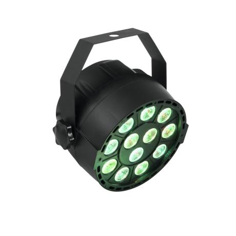 EUROLITE COMPACT SPOTLIGHT WITH 12 X 3 W 3IN1 LEDS IN RGB AND DMX CONTROL