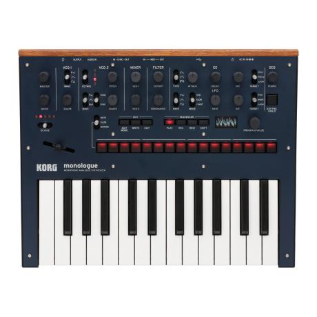 KORG MONOPHONIC ANALOG SYNTHESIZER BLUE