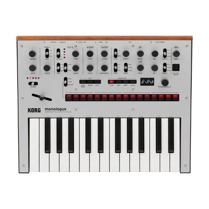 KORG MONOPHONIC ANALOG SYNTHESIZER SILVER-0