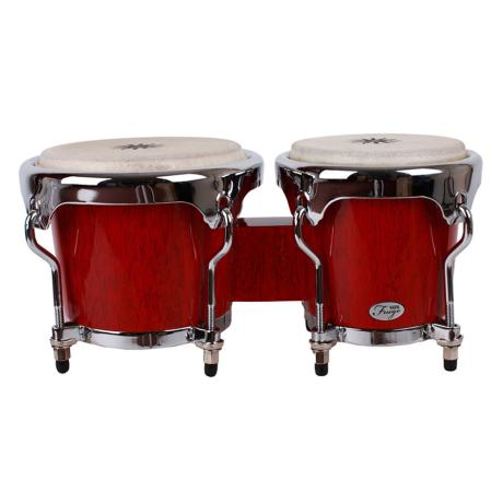 NATAL WOOD BONGOS CHROME HARDWARE RED GLOSS