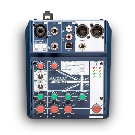 SOUNDCRAFT SMALL MIXER 5 MONO MIC/LINE INPUTS