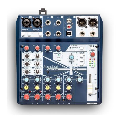 SOUNDCRAFT SMALL MIXER 8 MONO MIC/LINE INPUTS