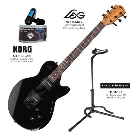 LAG ELECTRIC GUITAR I66+STAND+CLIP-ON TUNER