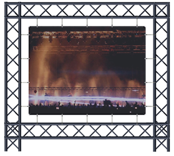 ADEO BACK PROJECTION SCREEN 350x69, 16:9 , VISION FOLD