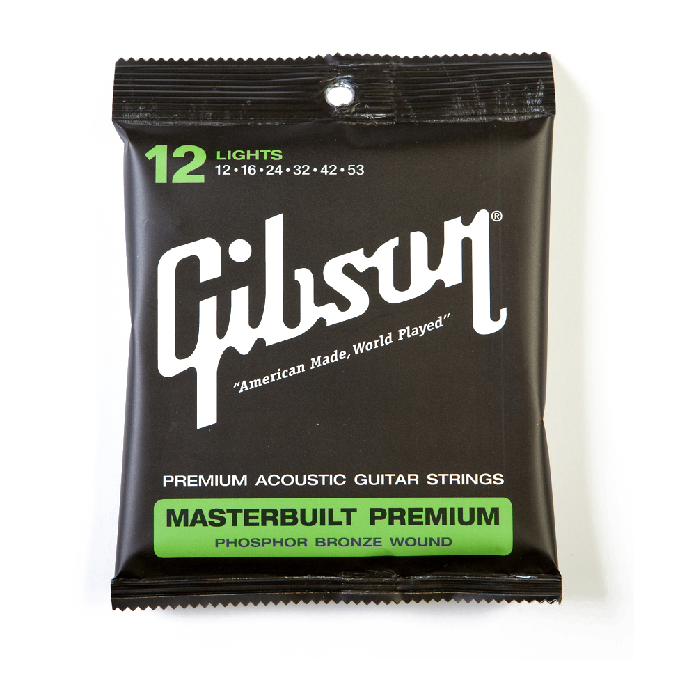 GIBSON ACOUSTIC GUITAR STRINGS MASTERBUILD .012-.052