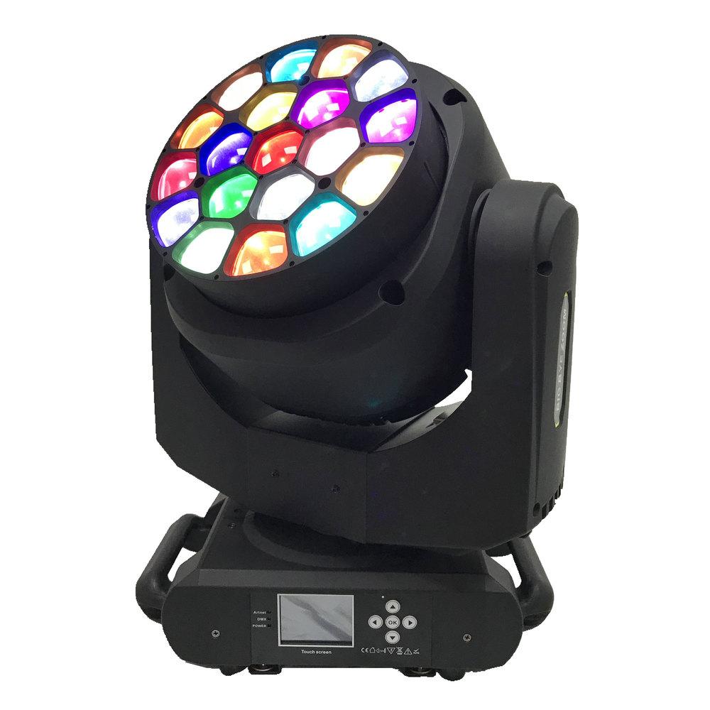 STAR TRIP LED ΚΙΝΗΤΗ ΚΕΦΑΛΗ RGBW ZOOM WASH 4-60 DEG 19X15W