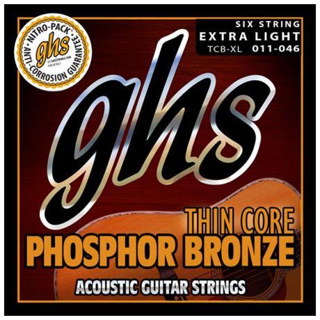 GHS ΣΕΤ ΧΟΡΔΕΣ THIN CORE PH. BRONZE EX. LIGHT 011-046