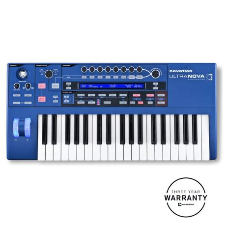 NOVATION SYNTHESIZER 37 KEYS AND S/W PLUG-IN EDITOR