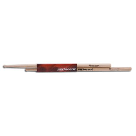 WINCENT HICKORY DRUMSTICKS ROUND TIP FUSION
